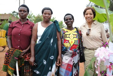 Grace with Rwanda Coffee Farmers